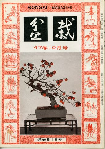Bonsai, Final Cover, 1967
